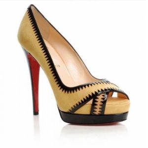 Authentic Christian Louboutin yellow heels